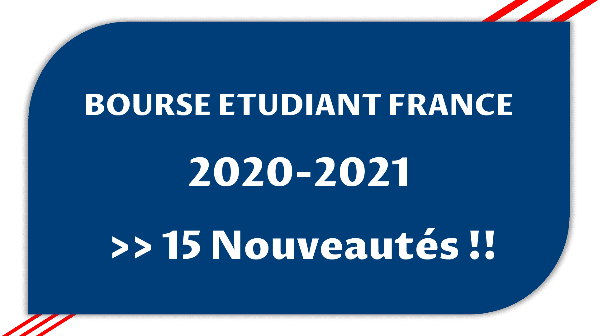 bourse etudiant france 2020